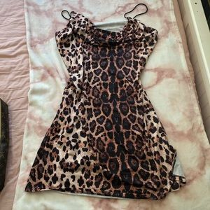 Plus Size Cheetah Print Midi Dress